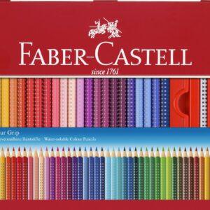 Faber-Castell - Colour Grip Akvarel Farveblyanter - Metalæske med 48 stk (112448)