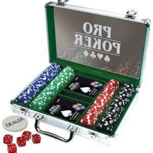 Tactic - Pro Poker Kuffert med 200 Chips