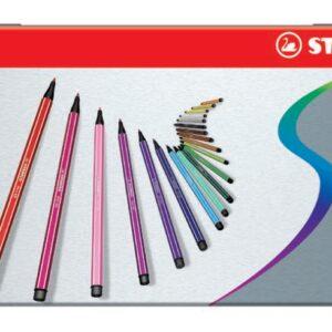 Stabilo - Pen 68 - Metalæske med 10 Tusser