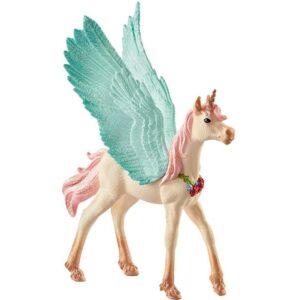 Schleich - Bayala - Dekoreret Enhjørning Pegasus, Føl (70575)