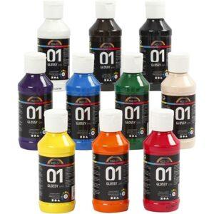 A-Color - Akrylmaling - Blank - (10 x 100 ml)