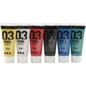 A-Color - Akrylmaling - Metallic - (6 x 20 ml)