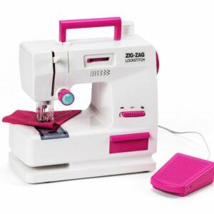 4-GIRLZ - Zig-Zag Symaskine til børn med fodpedal og mange funktioner