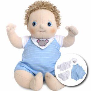 Rubens Barn - Rubens Baby dukke med ble - Erik (120091)