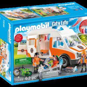 Playmobil - Ambulance med blinklys (70049)