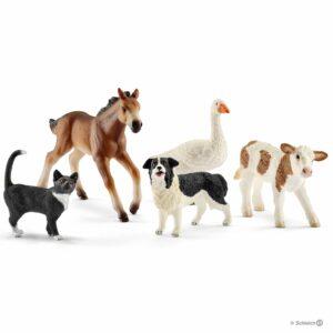 Schleich - 5 dyr til bondegården (42386)