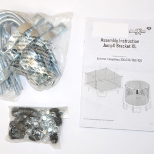 JumpXFun - Special bracket for trampolines with thick legs 80 mm.