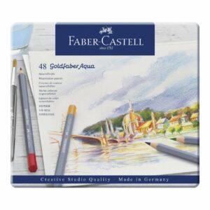 Faber Castell - Goldfaber akvarel farveblyamter i metalæske, 48 stk (114648)