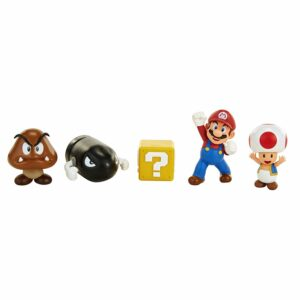 Nintendo - Figursæt 6 cm - 5 Figurer Mario Acorn Plains Diorama