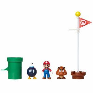 Nintendo - Figursæt 6 cm - Acorn Plains Diorama