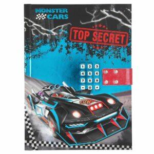 Monster Cars - Dagbog med Kode & Lyd