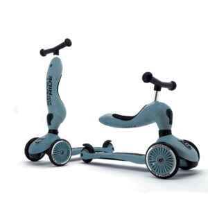 Scoot and Ride - 2 i 1 Løbecykel/ Løbehjul - Steel