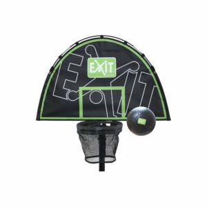 EXIT - Trampolin Basketball Kurv med Skumbold (ø25-38mm) - Grøn/Sort