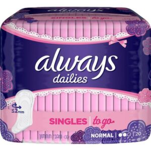 Always - Dailies Panty Liners 20's Singles To Go