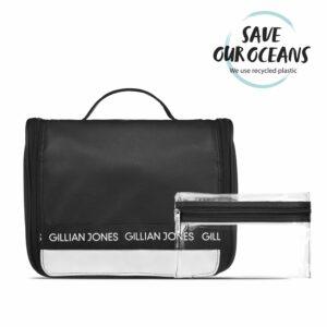Gillian Jones - Hæng-op Kosmetiktaske - Sort/Hvid