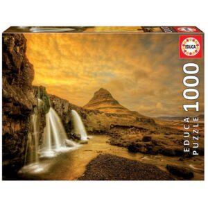 Educa - Puslespil 1000 brikker - Kirkjufellsfoss Vandfald, Island