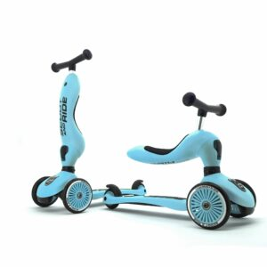 Scoot and Ride - 2 i 1 Løbecykel/ Løbehjul - Blueberry