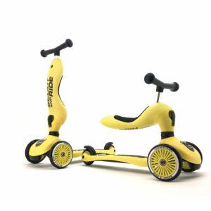 Scoot and Ride - 2 i 1 Løbecykel/ Løbehjul - Lemon