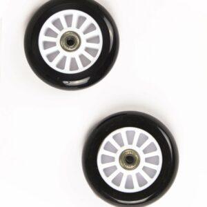 My Hood - 2 Hjul til Trick Løbehjul 100 mm - Sort/Hvid
