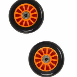 My Hood - 2 Hjul til Trick Løbehjul 100 mm - Sort/Orange