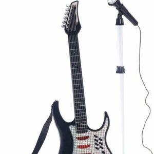 Elektrisk Guitar med Mikrofon og Mikrofonholder
