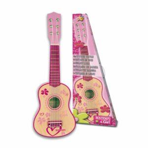 Bontempi - Lyserød guitar i træ, 55 cm (225572)