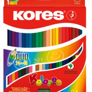 Kores - Kolores - Dou Trekant 24 farveblyanter (48 farver)