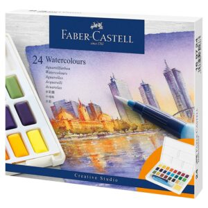 Faber-Castell - Akvarelfarver, 24 brikker i kasse (169724)