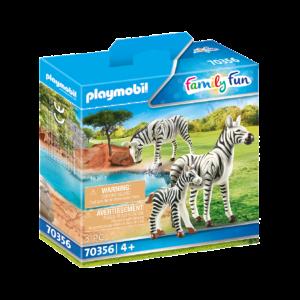 Playmobil - 2 zebraer med baby (70356)