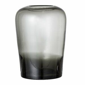 Bloomingville - Glas Vase Ø 13,5 cm - Grå