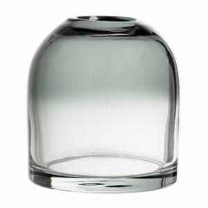 Bloomingville - Glas Vase Ø 12 cm - Grå
