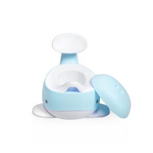 Babytrold - Baby Hval Potte - Hvid og Blå