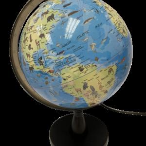 SCIENCE - Globus med Dyr og Lys 20 cm
