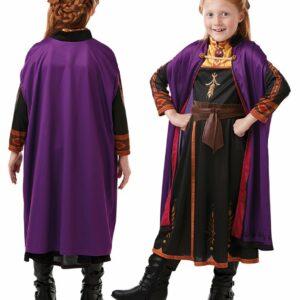 Frost - Anna Rejse Kjole - Børne Kostume (Str. 128)