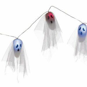 Halloween Lyskæde med Spøgelser - 170 cm