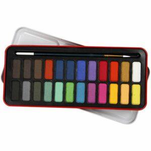 Akvarelsæt (24 Farver)