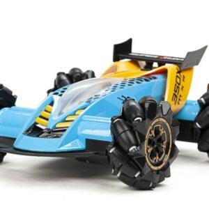 TechToys - Mist Spray Drift Car R/C Fjernstyret Bil 1:16 2,4G - Blå/Gul