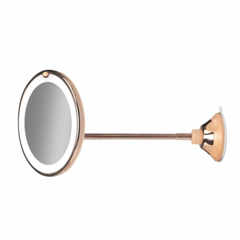 Gillian Jones - Rosegold  Sugekopspejl m. Bevægelig Stang og LED Lys