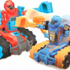 Maisto - Robo Fighters (2 Pak) R/C Fjernstyret Bil/Robot 13cm 27Mhz - Blå/Rød