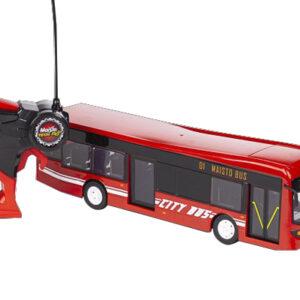 Maisto - City Bus R/C Fjernstyret Bus 33cm 27Mhz - Rød
