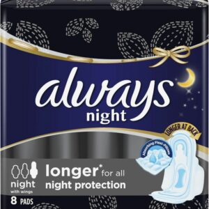 Always - Night Maxi Thick w. Wings 8's