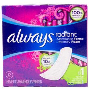 Always - Radiant Memory Foam Normal 12 Stk