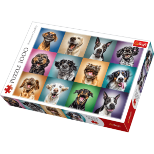 Trefl - Puslespil 1000 brikker - Funny Dog Portrætter (10462)