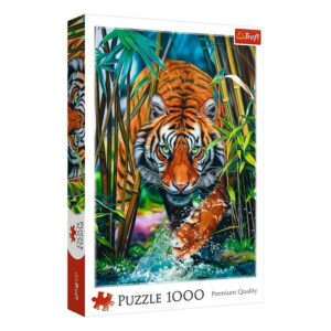 Trefl - Puslespil 1000 brikker - Grasping tiger (10528)