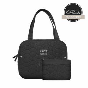 Karen - 2-piece Toiletry Bag Set w. Quilt - Black