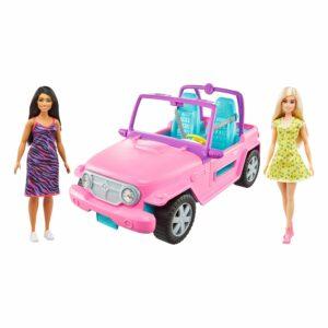 Barbie - Bil og 2 Dukker (GVK02)