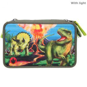 Dino World - Trippel Penalhus m/LED