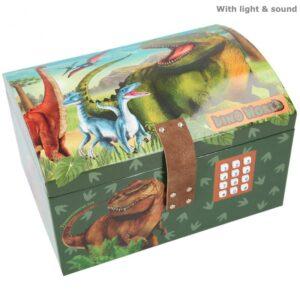Dino World - Skattekiste m/Kode og Lyd