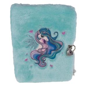 Tinka - Plys Dagbog med Lås - Pegasus