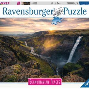 Ravensburger - Puslespil 1000 -  Haifoss Island